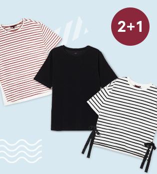 여성 티셔츠 2+1